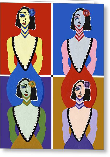 Twisted Sisters Greeting Card by Ruby Persson