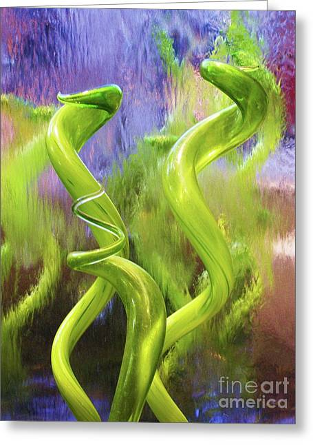 Twists And Turns Greeting Card by Anne McDonald