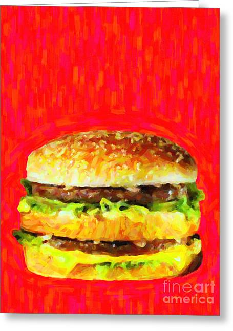 Junk Digital Greeting Cards - Two All Beef Patties Greeting Card by Wingsdomain Art and Photography