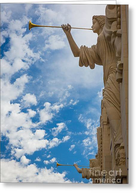 Sculptures Sculptures Greeting Cards - Two Angels Greeting Card by Inge Johnsson
