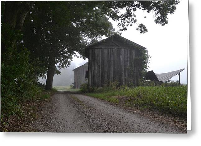 Outbuildings Greeting Cards - Two barns Greeting Card by Sue McGlothlin