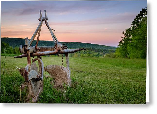 Old Plows Greeting Cards - Two Bottom Dearborn Plow Greeting Card by Chris Bordeleau