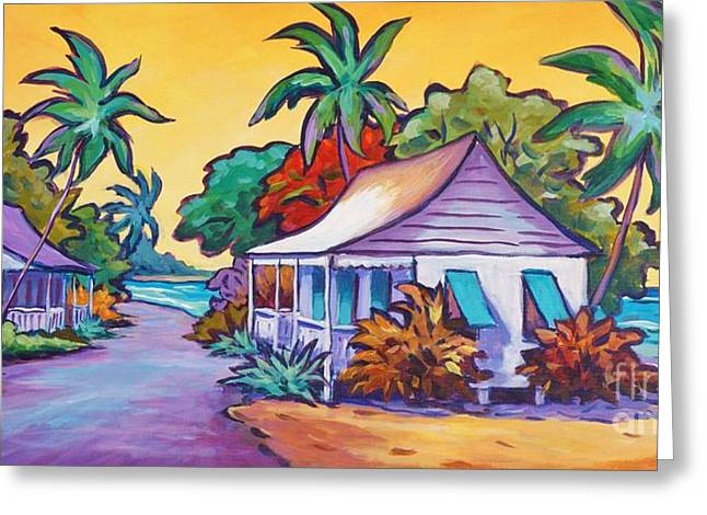 Two Cottages Greeting Card by John Clark