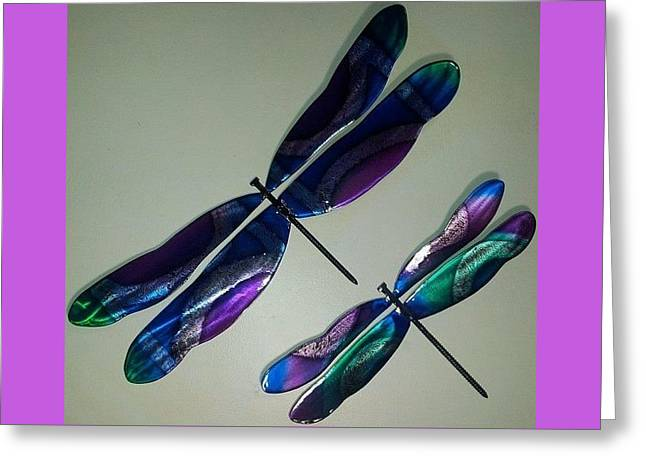 Color Green Reliefs Greeting Cards - Two Flies Greeting Card by The  Torchcutters