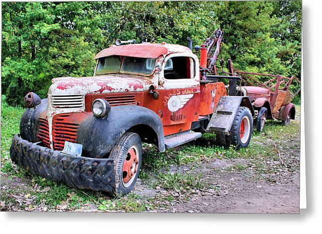 Old Pickup Greeting Cards - Two for One Greeting Card by Kristin Elmquist