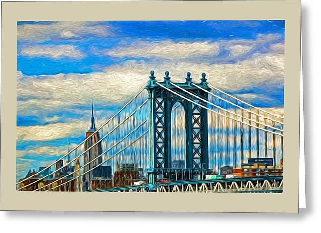 River View Greeting Cards - Two Icons - Digital Painting Greeting Card by Allen Beatty