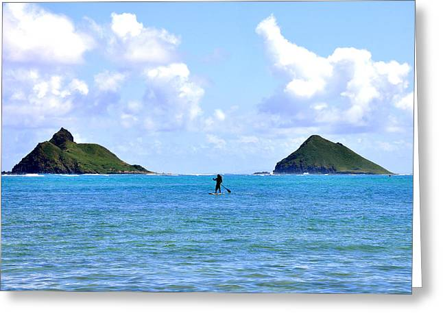 Two Islands Greeting Card by Andrew Dinh