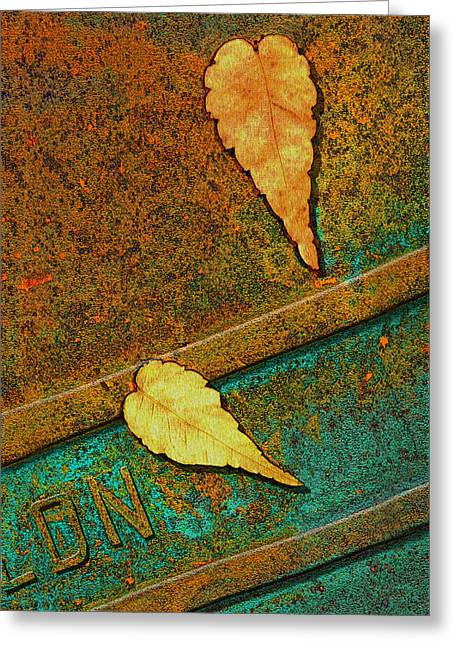 Bus Stop Greeting Cards - Two Leaves or Not Two Leaves Greeting Card by Paul Wear