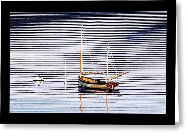 Coastal Maine Greeting Cards - Two Masted Skiff Zephyr Greeting Card by Marty Saccone