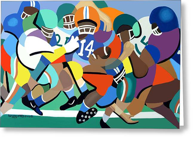 Sports Framed Prints Greeting Cards - Two Minute Warning Greeting Card by Anthony Falbo