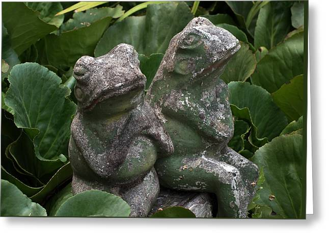 Garden Statuary Greeting Cards - Two Old Friends Greeting Card by Kevin Felts