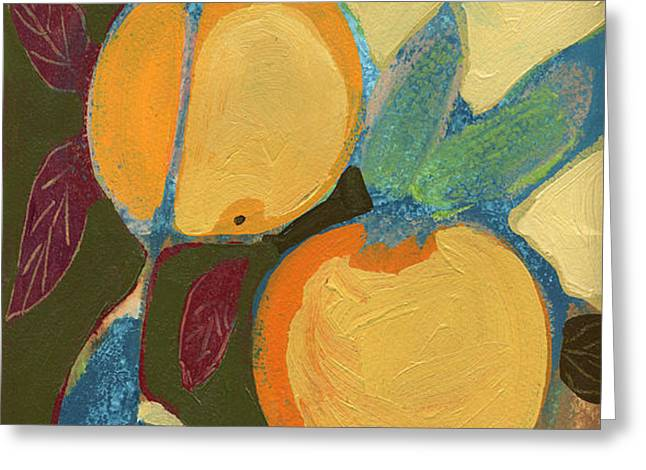 Two Oranges Greeting Card by Jennifer Lommers