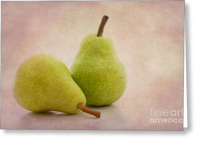 Pear Art Greeting Cards - Two pears Greeting Card by SK Pfphotography