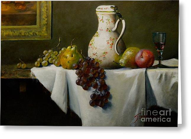 Chardin Greeting Cards - Two Pears Greeting Card by Tom Jennerwein