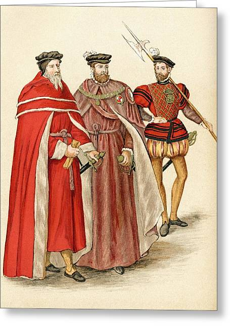 Two Handed Greeting Cards - Two Peers In Their Robes, And A Greeting Card by Ken Welsh