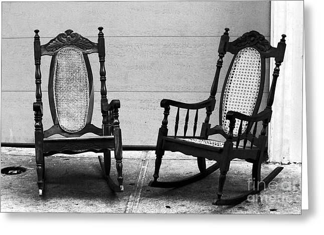 Two Rocking Chairs Greeting Card by John Rizzuto