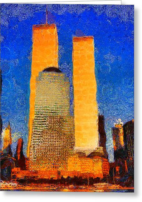 Newyorkcity Greeting Cards - Two September Days Greeting Card by Jim  Nooney