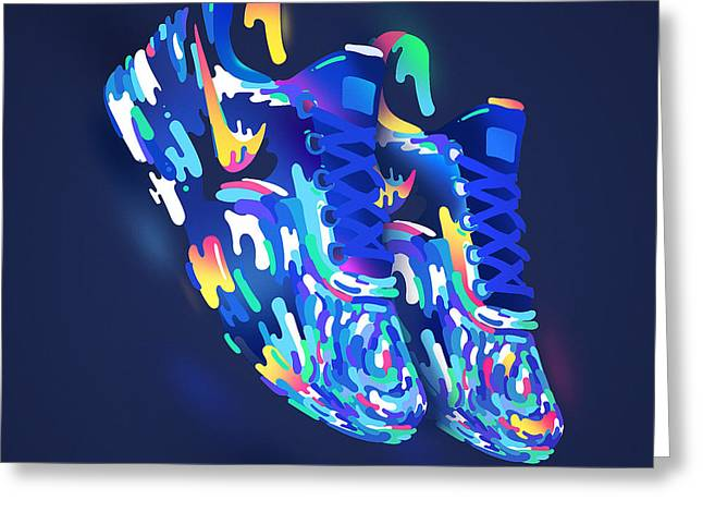 Nike Greeting Cards - Two Shoes Greeting Card by Ikhsan Fawakal