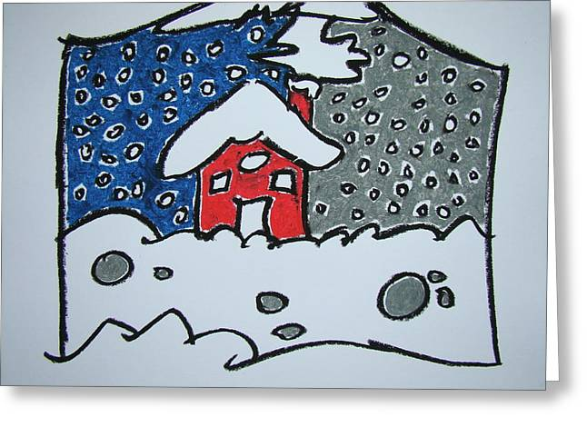 Snow Drifts Pastels Greeting Cards - Two Sides Of Winter Greeting Card by Pat  Lackenbauer