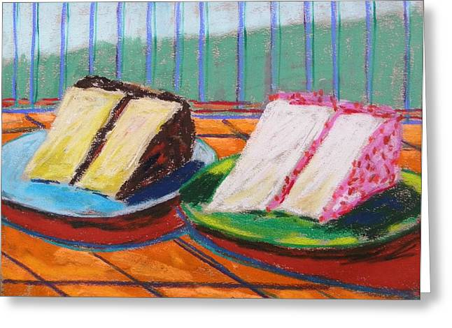 Layers Pastels Greeting Cards - Two Slices Greeting Card by John  Williams