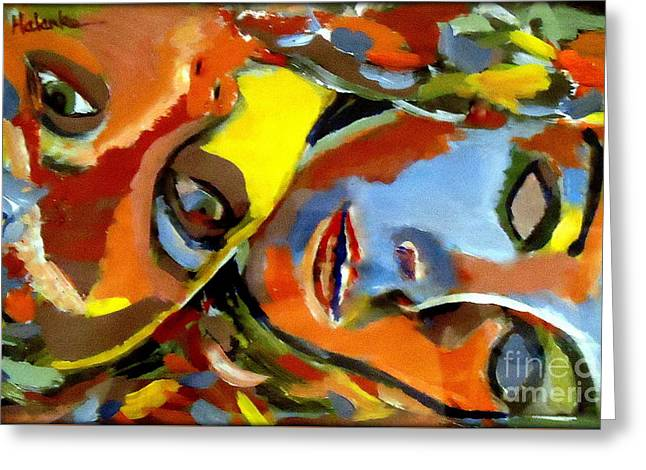 Purchase Greeting Cards - Two Souls Greeting Card by Helena Wierzbicki