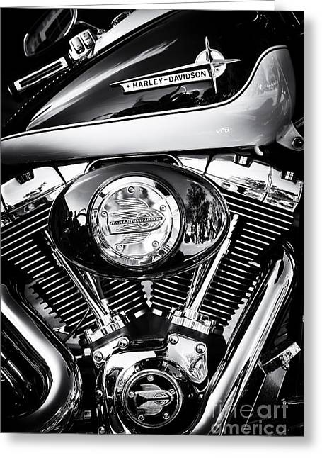 V Twin Greeting Cards - Two Tone HD Greeting Card by Tim Gainey