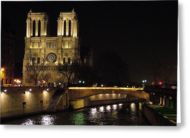 Two Towers Greeting Cards - Two Towers of Notre Dame Greeting Card by Donna Corless