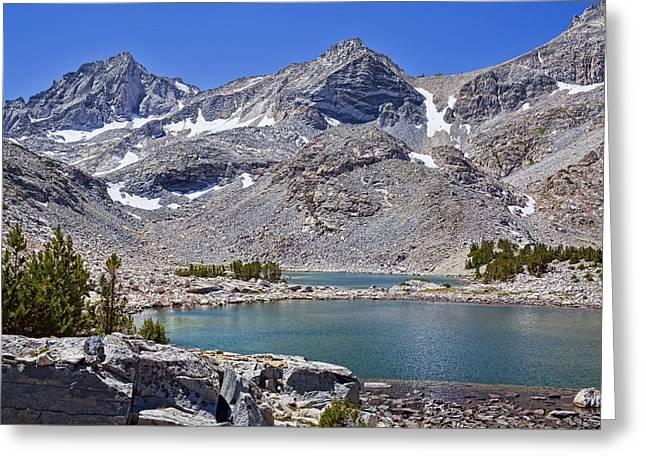 Fishing Creek Greeting Cards - Two Treasure Lakes Greeting Card by Kelley King