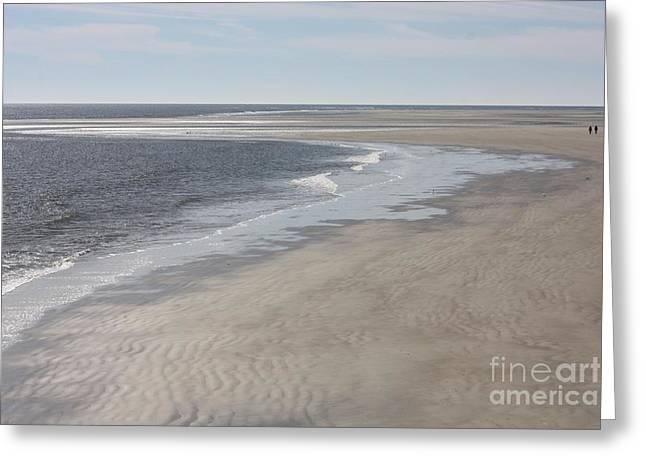 Tybee Island Beach Greeting Card by Carol Groenen