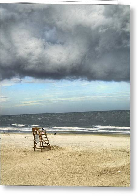 Thunderstorm Greeting Cards - Tybee Island Storm Greeting Card by Tammy Wetzel