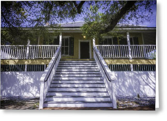 Tybee Raised Cottage Greeting Card by Joan Carroll