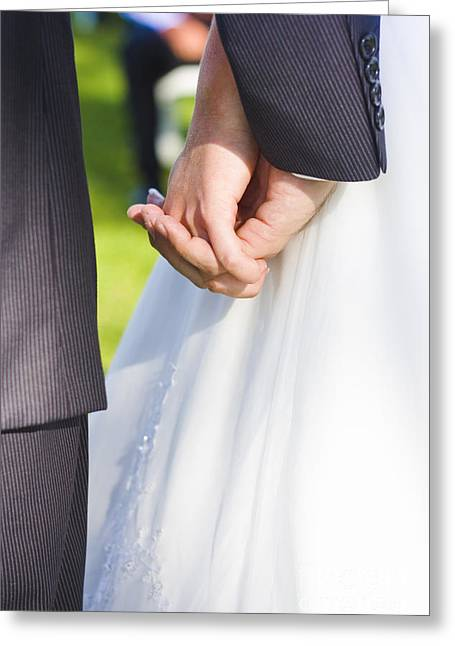 Just Married Greeting Cards - Tying The Knot Greeting Card by Ryan Jorgensen