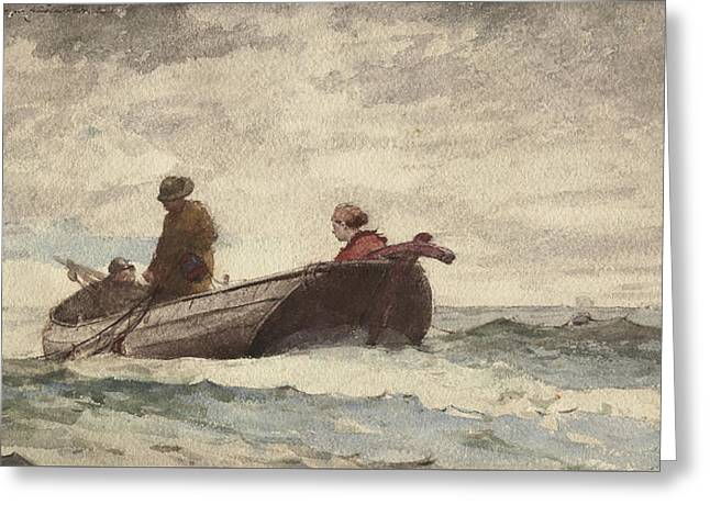 Tynemouth Priory Greeting Card by Winslow Homer
