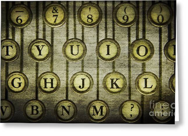 Typewriter Keys Photographs Greeting Cards - Typewriter Keys Greeting Card by Cindi Ressler