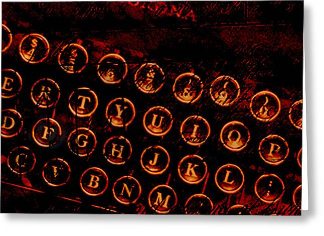 Typewriter Keys Greeting Card by Colleen VT