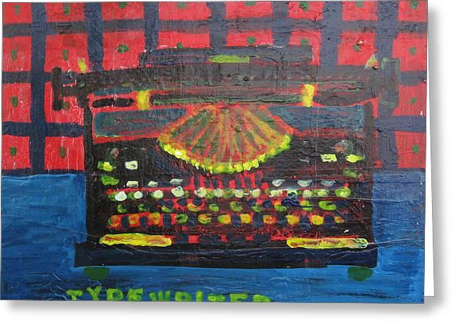 Typewriter Paintings Greeting Cards - Typewriter Greeting Card by May Miller