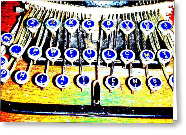 Typewriter Greeting Card by Peter  McIntosh