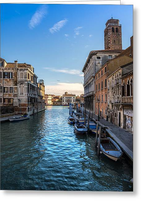 Famous Bridge Greeting Cards - Typical canal in Venice Greeting Card by Riccardo Zimmitti