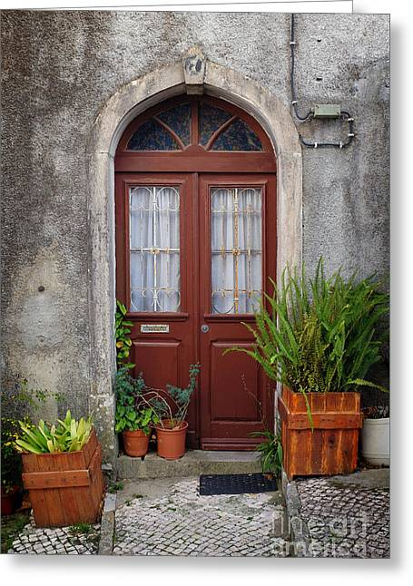 Typical Door Greeting Card by Carlos Caetano