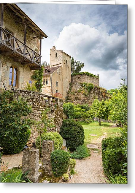 Collective Greeting Cards - Typical housing in Saint Circ Lapopie Greeting Card by Semmick Photo