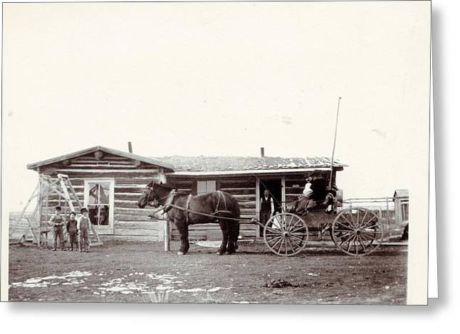 To My Father Greeting Cards - Typical Montana Homestead 1903/04 Greeting Card by Marlene Kaiser