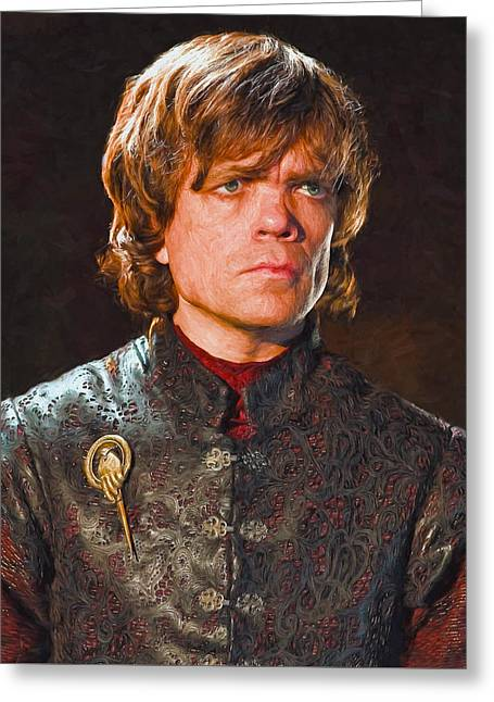 Creative People Greeting Cards - Tyrion Lannister II - Game Of Thrones Greeting Card by Nikola Durdevic