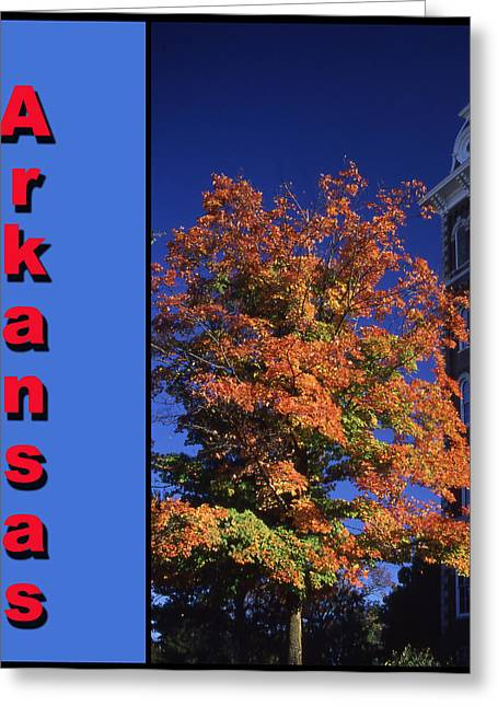 University Of Arkansas Greeting Cards - U of A Old Main Greeting Card by Curtis J Neeley Jr