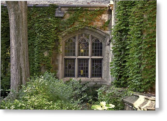 U Of M Halls Of Ivy Greeting Card by Richard Gregurich