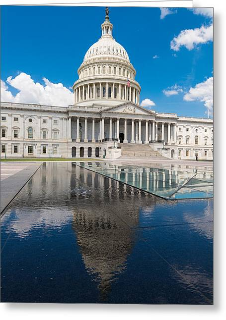 U.s. Capitol Greeting Cards - U S Capitol East Front Greeting Card by Steve Gadomski