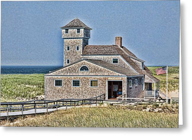Historic Home Greeting Cards - U S Lifesaving Station Greeting Card by Stephen Stookey
