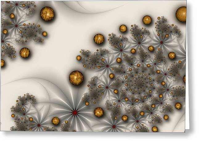 u026-3 Golden Orbs Wop-Wop_b Greeting Card by Drasko Regul