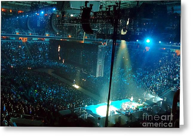 Recently Sold -  - Tablets Greeting Cards -  U2 Innocence And Experience Tour 2015 Opening At San Jose. 1 Greeting Card by Tanya Filichkin
