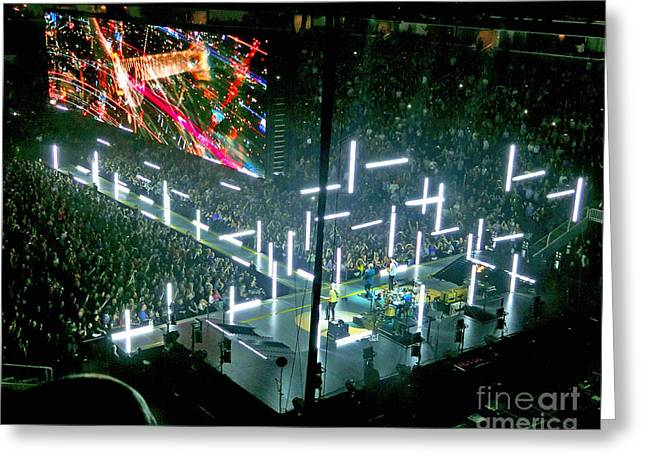 British Celebrities Greeting Cards - U2 Innocence And Experience Tour 2015 Opening At San Jose. 8 Greeting Card by Tanya Filichkin