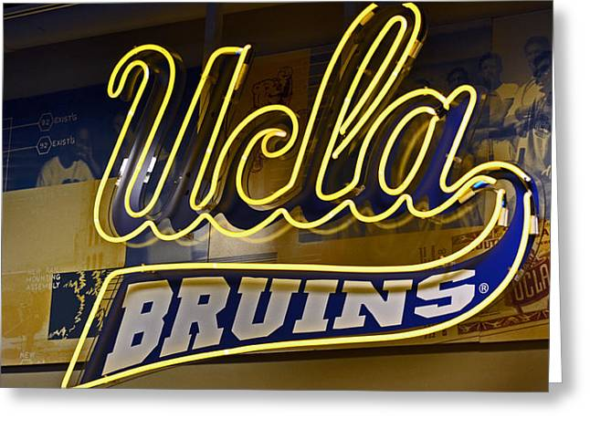 Uc California Greeting Cards - Ucla Bruins Greeting Card by Bill Owen